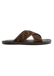 Fendi Logo-embellished rubber slides