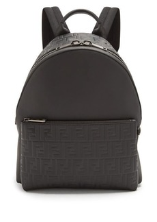 Fendi Logo-embossed leather backpack