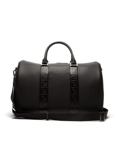 Fendi Logo-embossed leather holdall