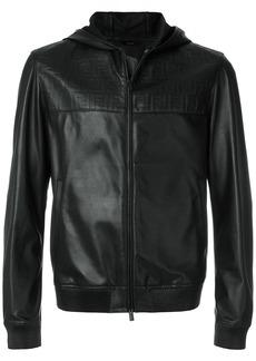 Fendi logo embossed zipped jacket