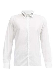 Fendi Logo-embroidered cotton-poplin shirt