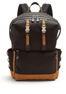 Fendi Logo-embroidered nylon backpack