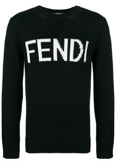 Fendi virgin wool logo sweater
