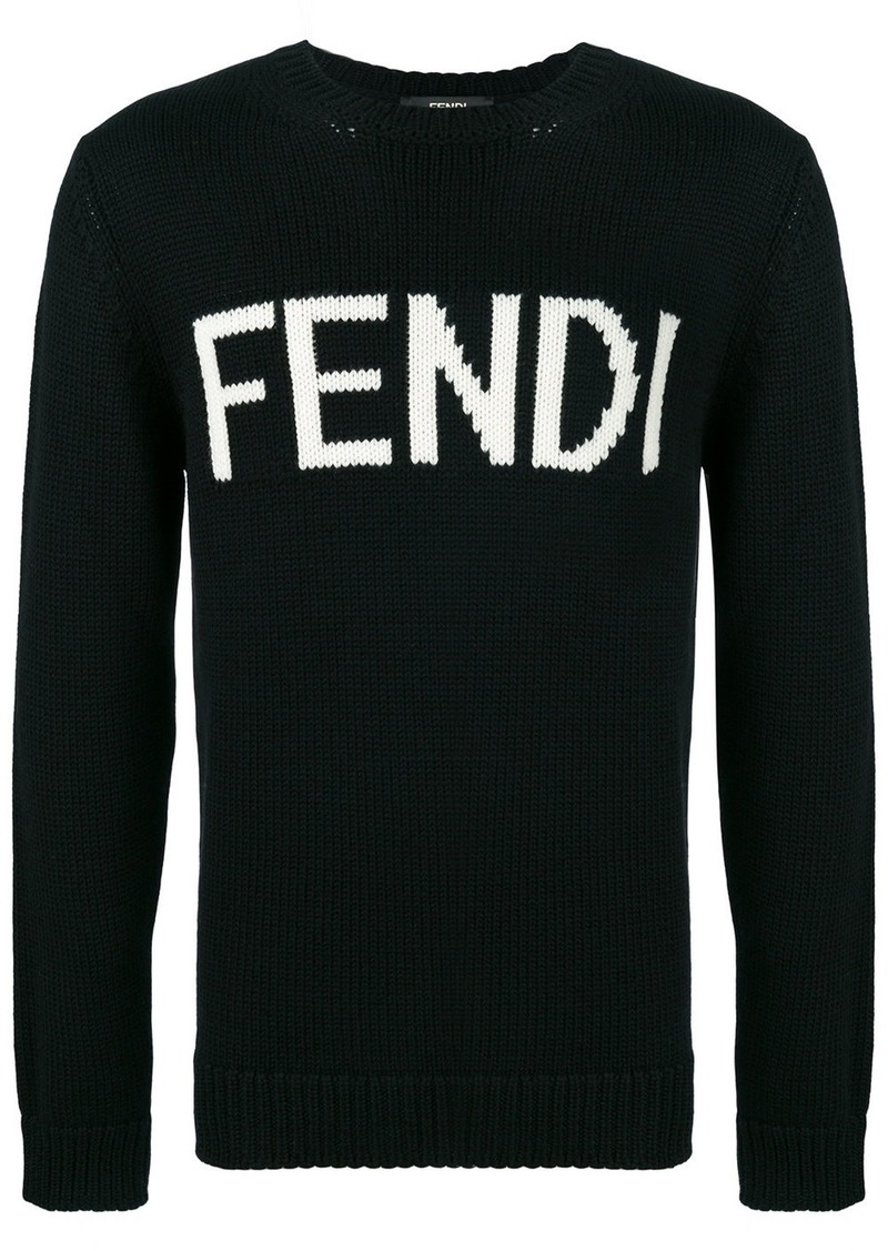 Fendi virgin wool logo sweater