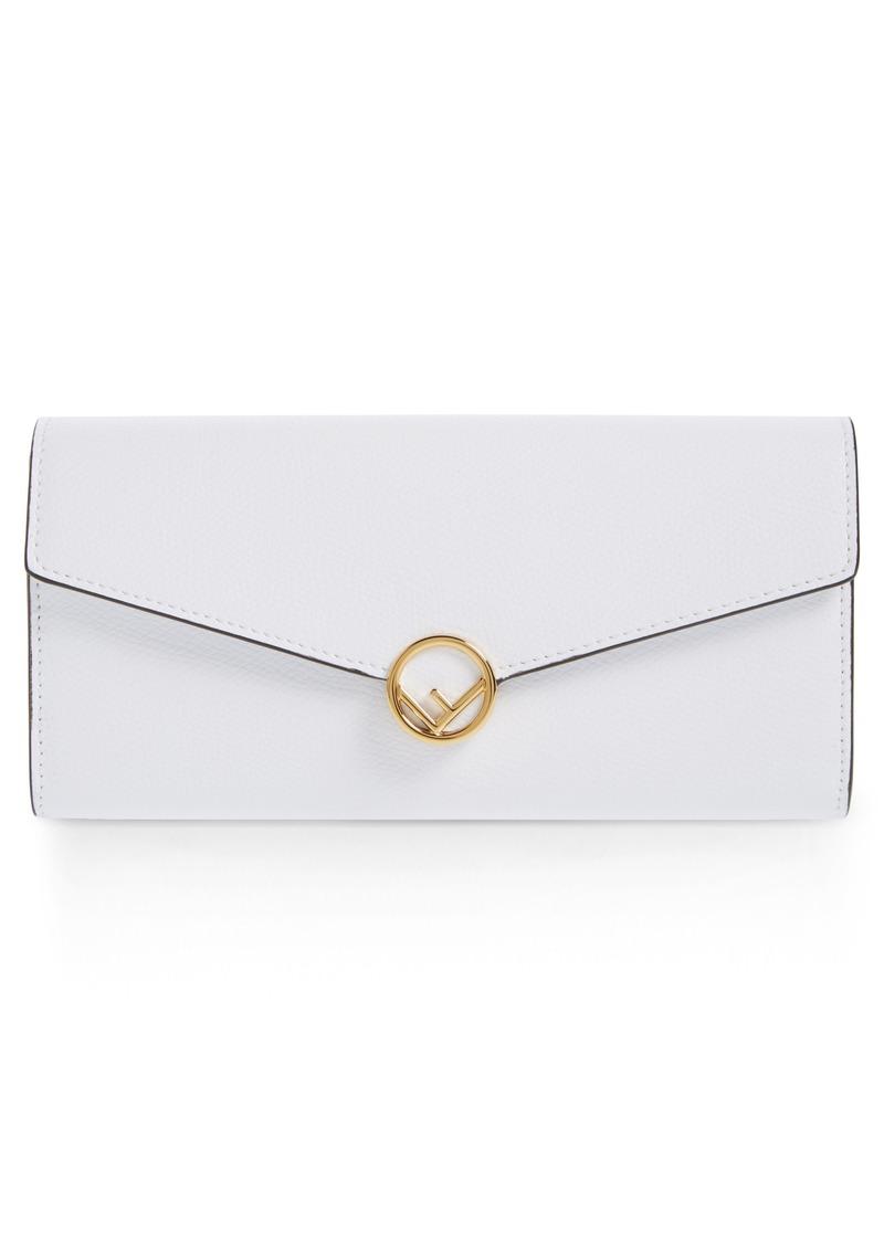 d160e1ad9250 Fendi Fendi Logo Flap Leather Continental Wallet