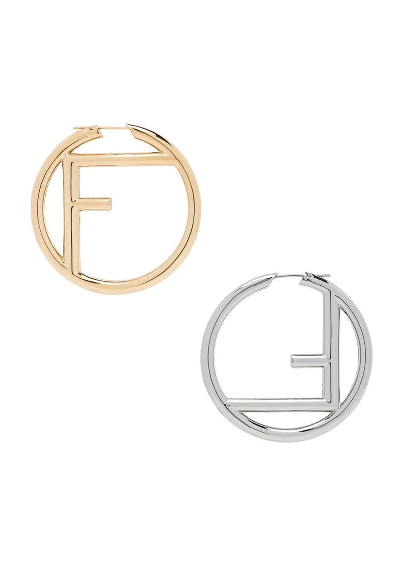 0b60a2538 Fendi Fendi Logo Hoop Earrings | Misc Accessories