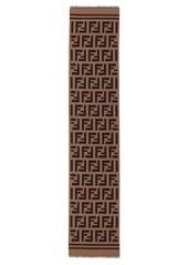 Fendi Logo-intarsia wool and silk blend scarf