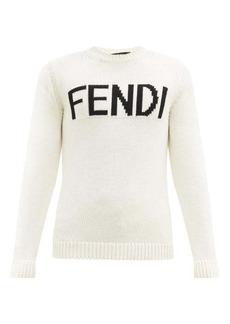 Fendi Logo-intarsia wool sweater