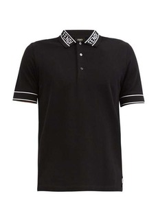 Fendi Logo-jacquard cotton-piqué polo shirt
