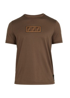 Fendi Logo-jacquard cotton T-shirt