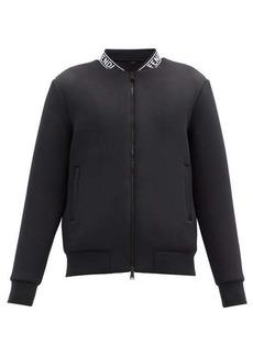 Fendi Logo-jacquard neoprene-blend bomber jacket