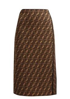 Fendi Logo-jacquard stretch pencil skirt