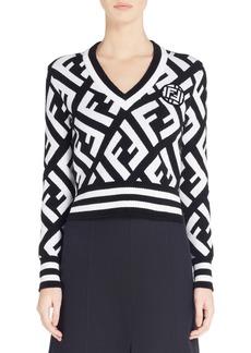 Fendi Logo Knit Sweater
