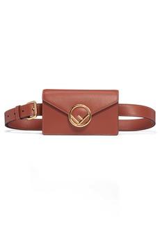 Fendi Logo Leather Belt Bag