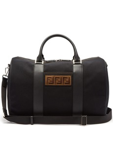 Fendi Logo-patch canvas holdall