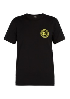 Fendi Logo-patch crew-neck cotton T-shirt