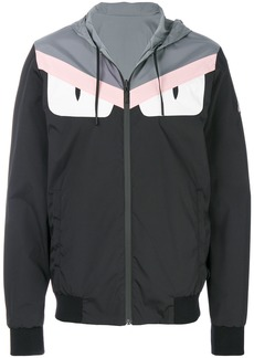 Fendi logo patch hooded jacket