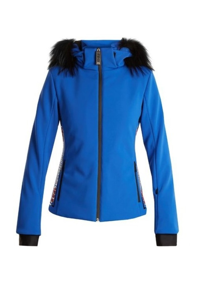 Fendi Fendi Logo-print fur-trimmed ski jacket  c5458380a