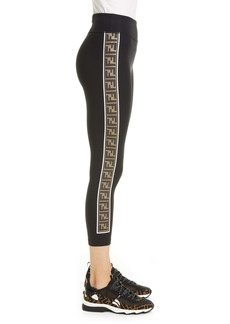 Fendi Logo Side Stripe Leggings