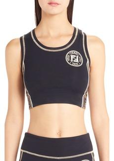 Fendi Logo Side Stripe Sports Bra