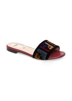 Fendi Logo Slide Sandal (Women)