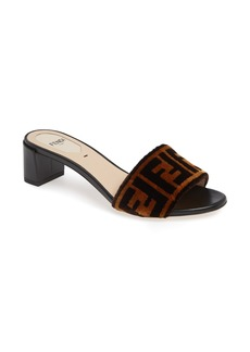 Fendi Logo Slide Sandal (Women)