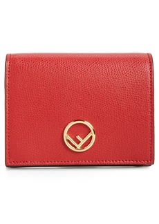 Fendi Logo Small Leather French Wallet
