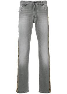 Fendi logo stripe jeans - Black