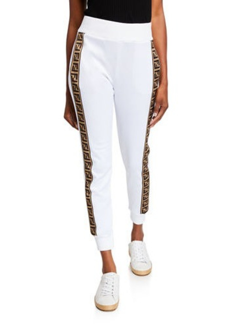 Fendi Logo-Striped Jersey Track Pants