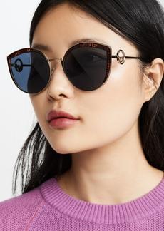 Fendi Logo Trim Cat Eye Sunglasses