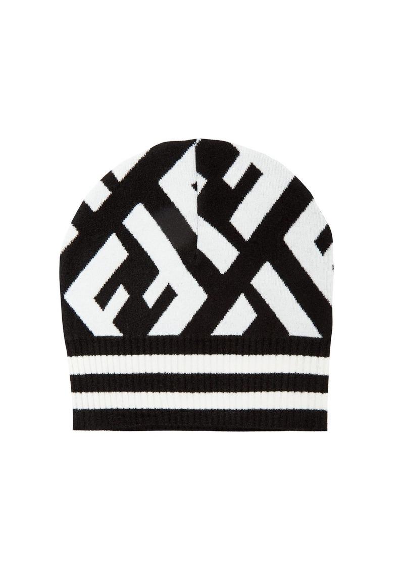 09290f75fa0f Fendi Fendi Macro FF logo beanie hat