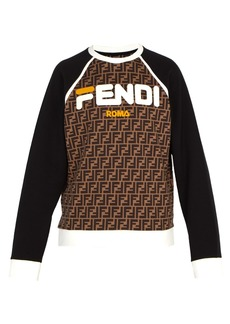 Fendi Mania cotton sweatshirt