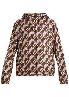 Fendi Mania cube-print hooded jacket