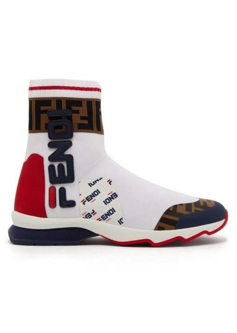 Fendi Mania FF logo sock boots