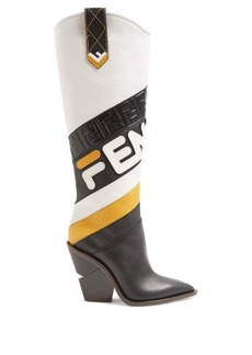 Fendi Mania leather knee-high boots
