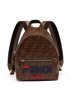 Fendi Mania logo-appliqué coated canvas backpack