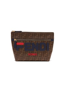 Fendi Mania logo-appliqué coated canvas pouch