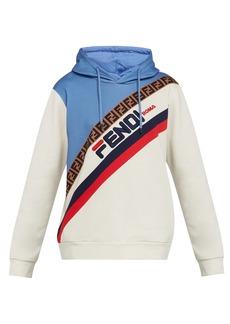 Fendi Mania logo-embroidered hooded cotton sweatshirt