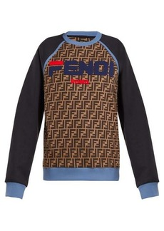 Fendi Mania logo-print cotton sweatshirt