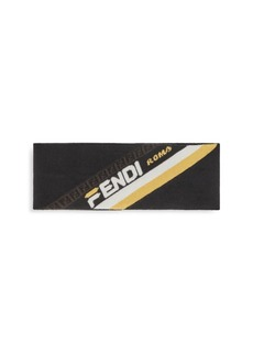 Fendi Mania Logo Wool Headband