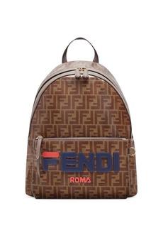 Fendi Mania Printed Coated Canvas Backpack