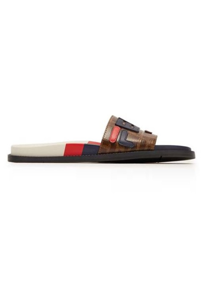 Fendi Mania rubber slides