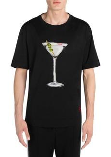 Fendi Martini Hand-Painted T-Shirt