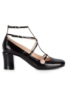 Fendi Mary-Jane leather pumps