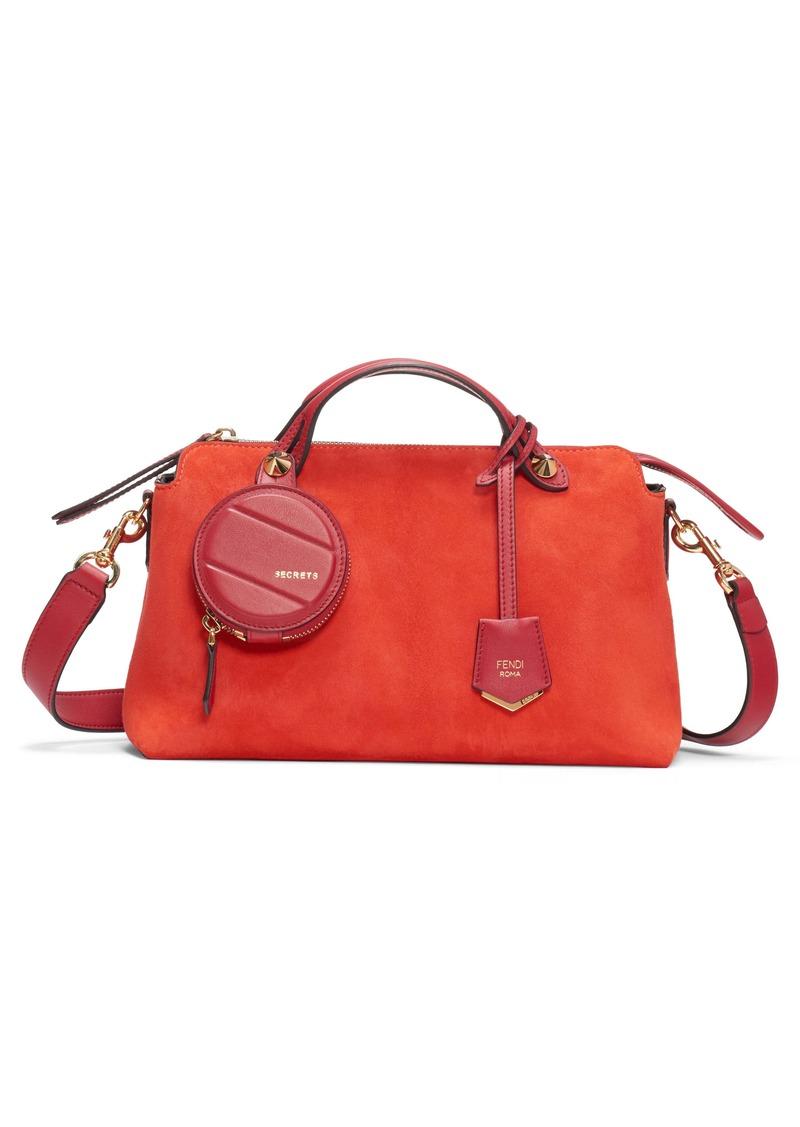 Fendi Medium By The Way Suede Shoulder Bag