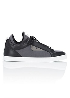 Fendi Men's Bag Bugs Knit & Leather Sneakers