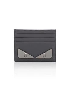 Fendi Men's Bag Bugs Leather Card Case - Gray