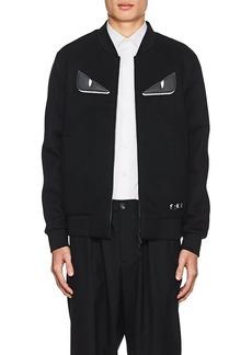 Fendi Men's Bag Bugs Neoprene Bomber Jacket