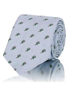 Fendi Men's Bouquet-Pattern Silk Twill Necktie