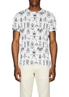 Fendi Men's Bug-Print Cotton T-Shirt